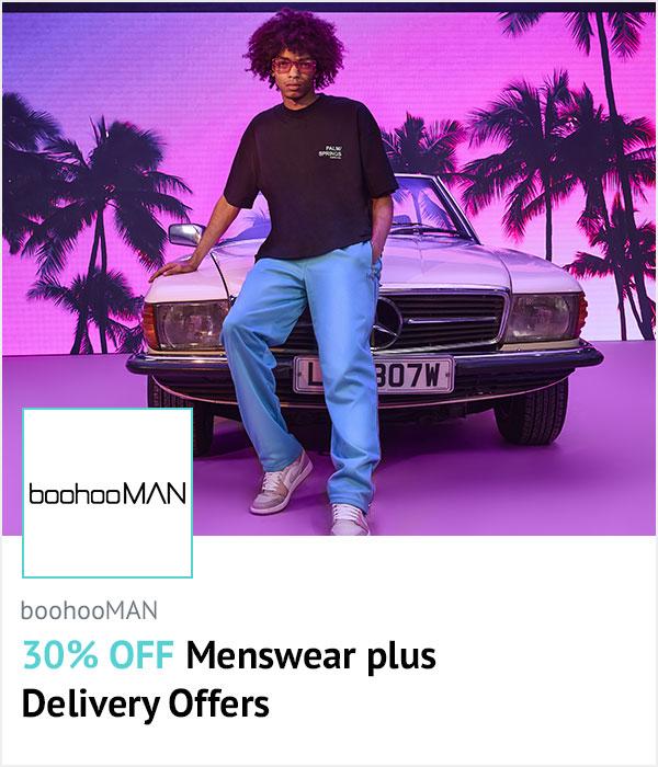 boohooMAN homepage banner