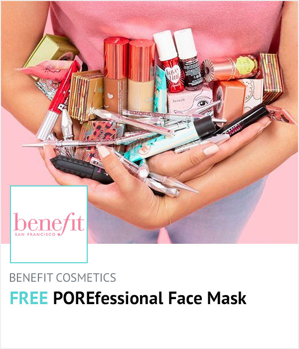 Benefit Cosmetics homepage banner
