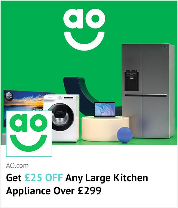 AO.com homepage banner